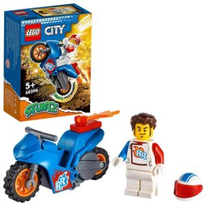 LEGO City 60298 Kaskadérska motorka s raketovým pohonom